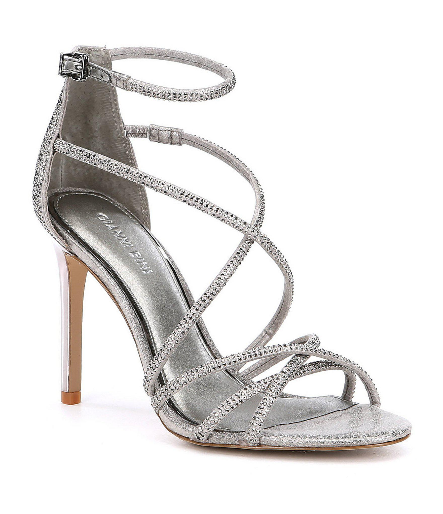 29262ddea38 Gianni Bini Anselle Strappy Jeweled Dress Sandals in Gray - Lyst