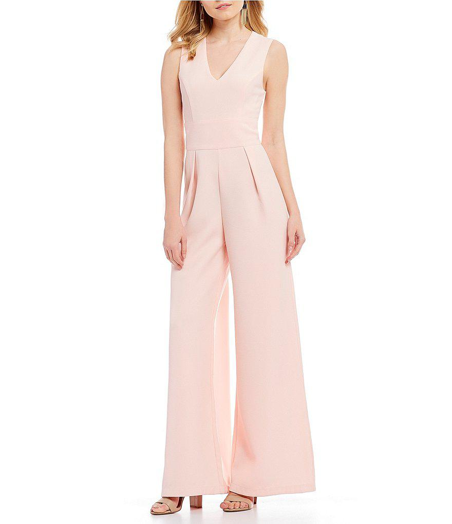 a80e43b0bfb3 Lyst - Sugarlips Wide Leg Jumpsuit in Pink