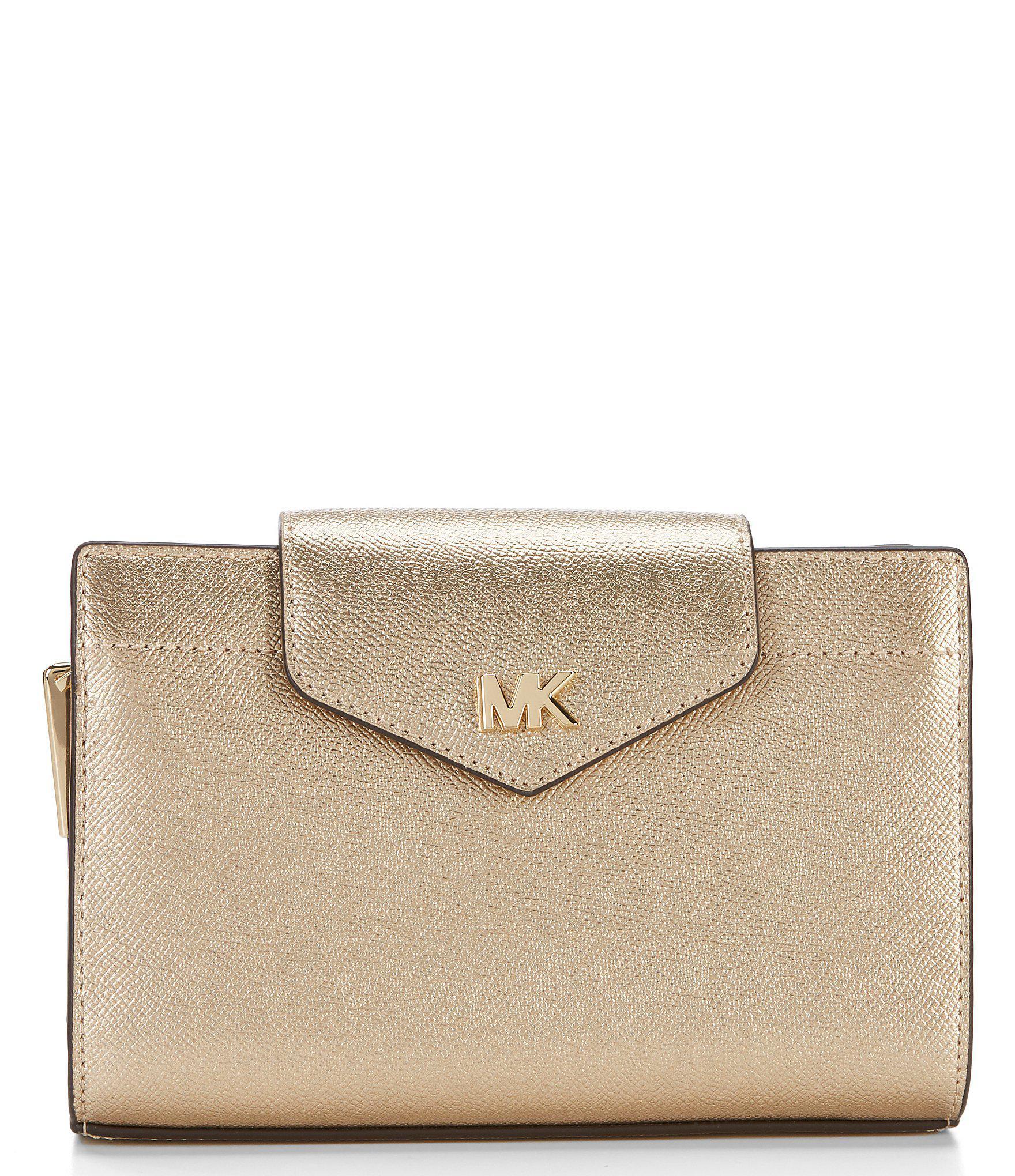 94158168fa9d MICHAEL Michael Kors. Women s Medium Convertible Flap Metallic Cross-body  Clutch