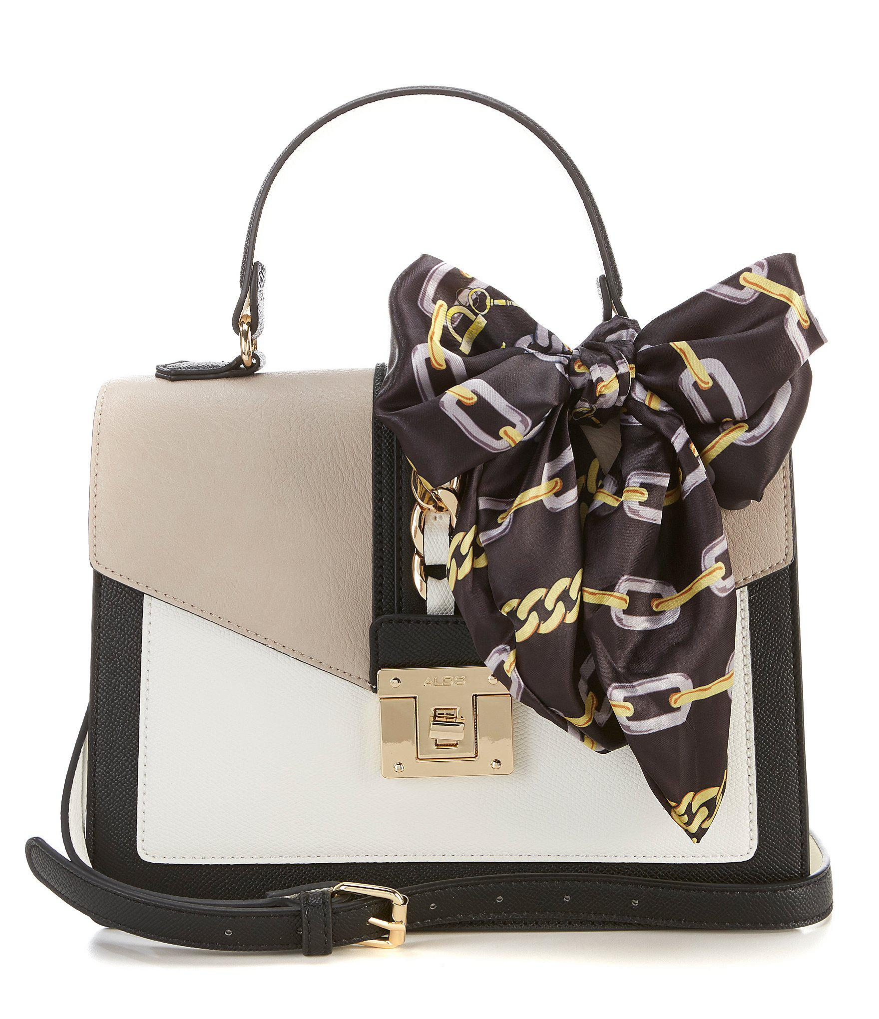 f7e9b787aaa Lyst - ALDO Glendaa Small Top Handle Taupe Colorblock Handbag