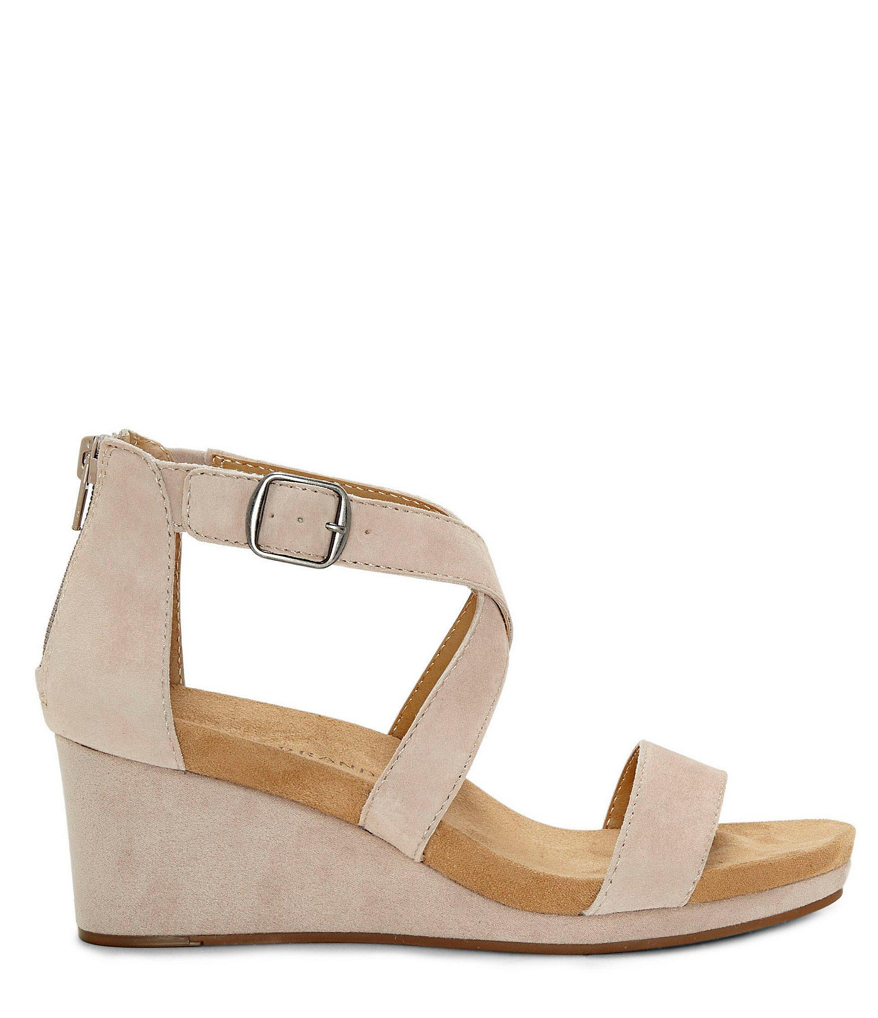 1d2c02378aa2 Lyst - Lucky Brand Kenadee Suede Wedge Sandals in Brown - Save 40%