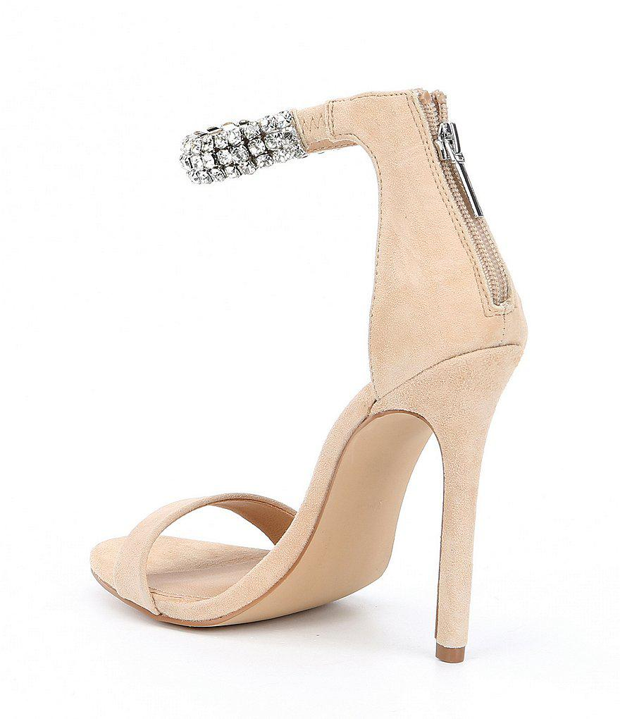 Rando Suede Rhinestone Ankle Strap Dress Sandals qfxOB9kUL
