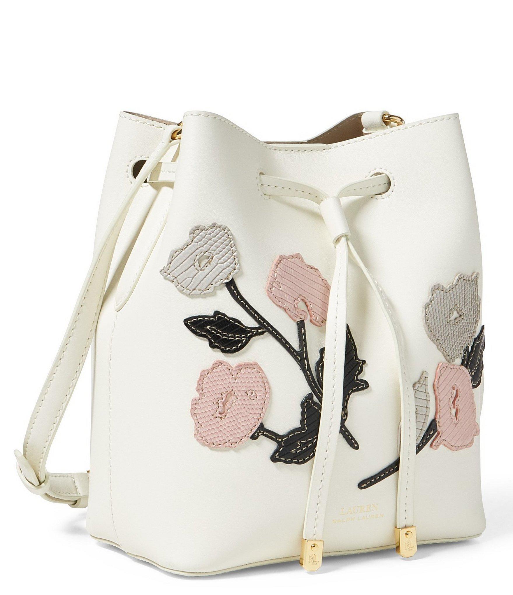 a911e0c41e Lyst - Lauren by Ralph Lauren Mini Debby Ii Floral Drawstring Bag