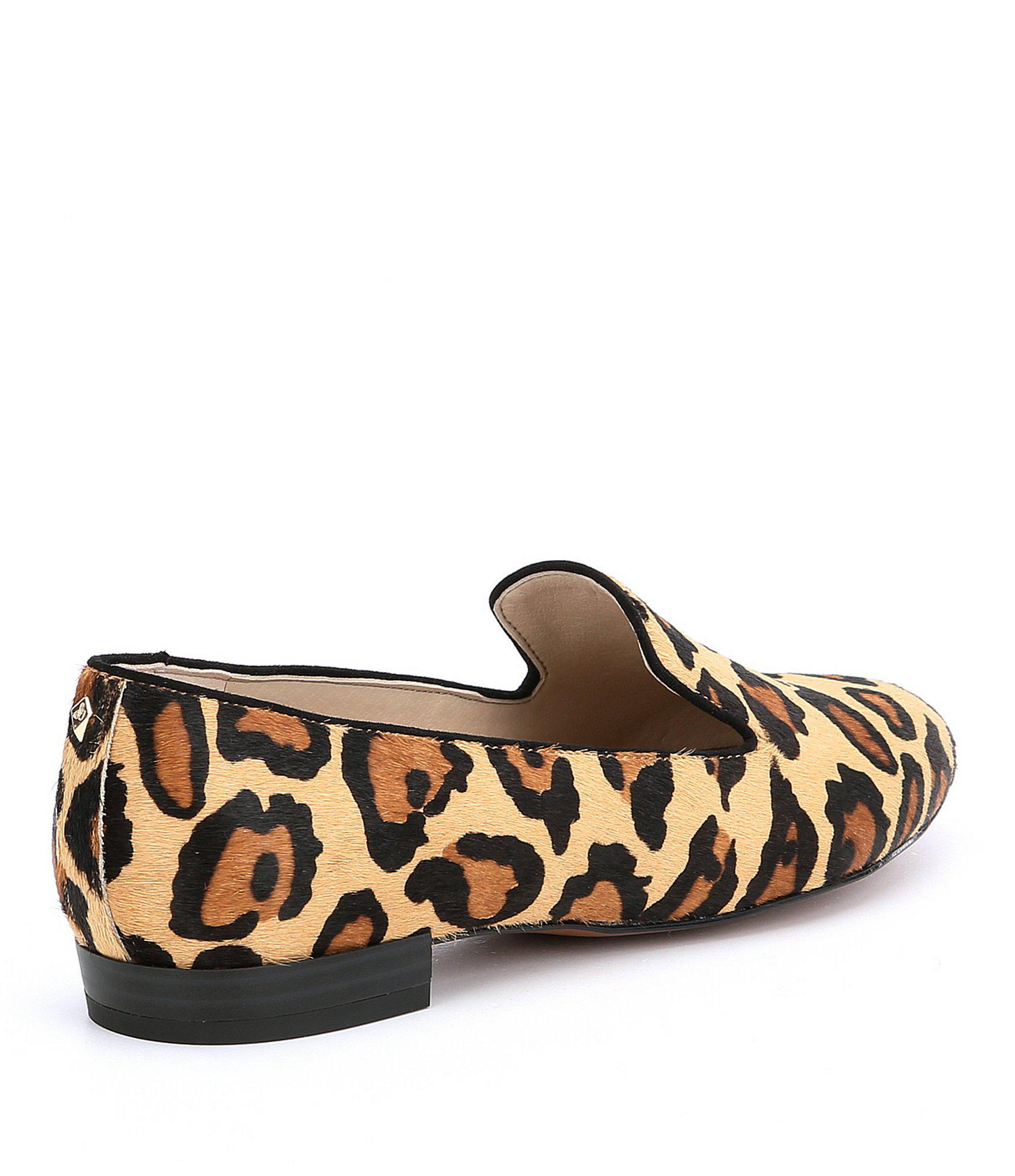 e8aa8e1dfb458b Lyst sam edelman jordy leopard brahma hair loafers in brown jpg 1760x2040 Sam  edelman leopard slip