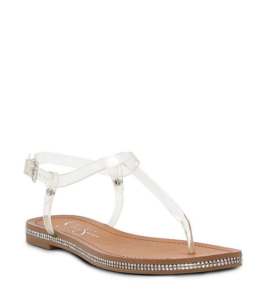 Jessica Simpson Cammie Thong Sandal(Women's) -Black Glitter Gabore Looking For Sale Online Buy Cheap Choice gGGjwh