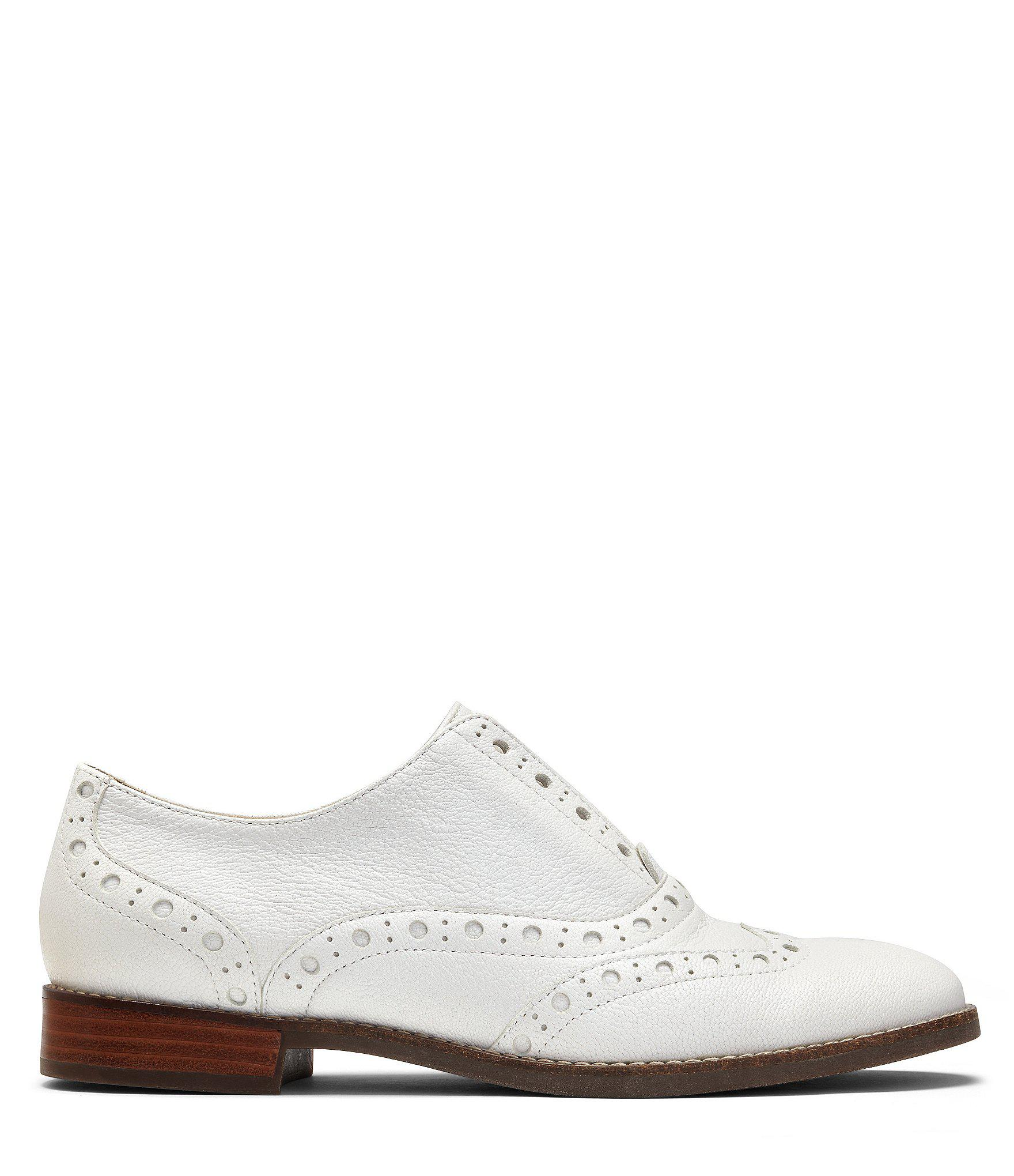 6696b03e1d2 Vionic Wise Hadley Leather Wingtip Oxfords in White - Lyst