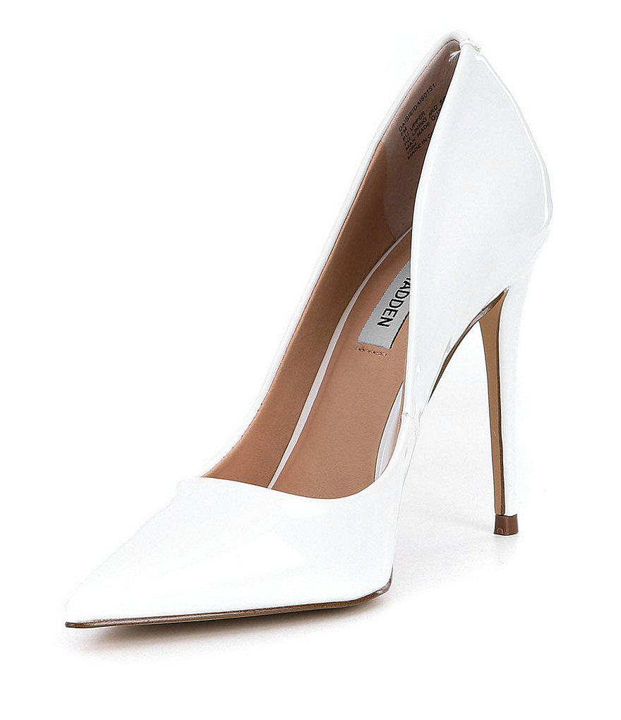 b0cd956305a Lyst - Steve Madden Daisie Pointed Toe Pumps in White