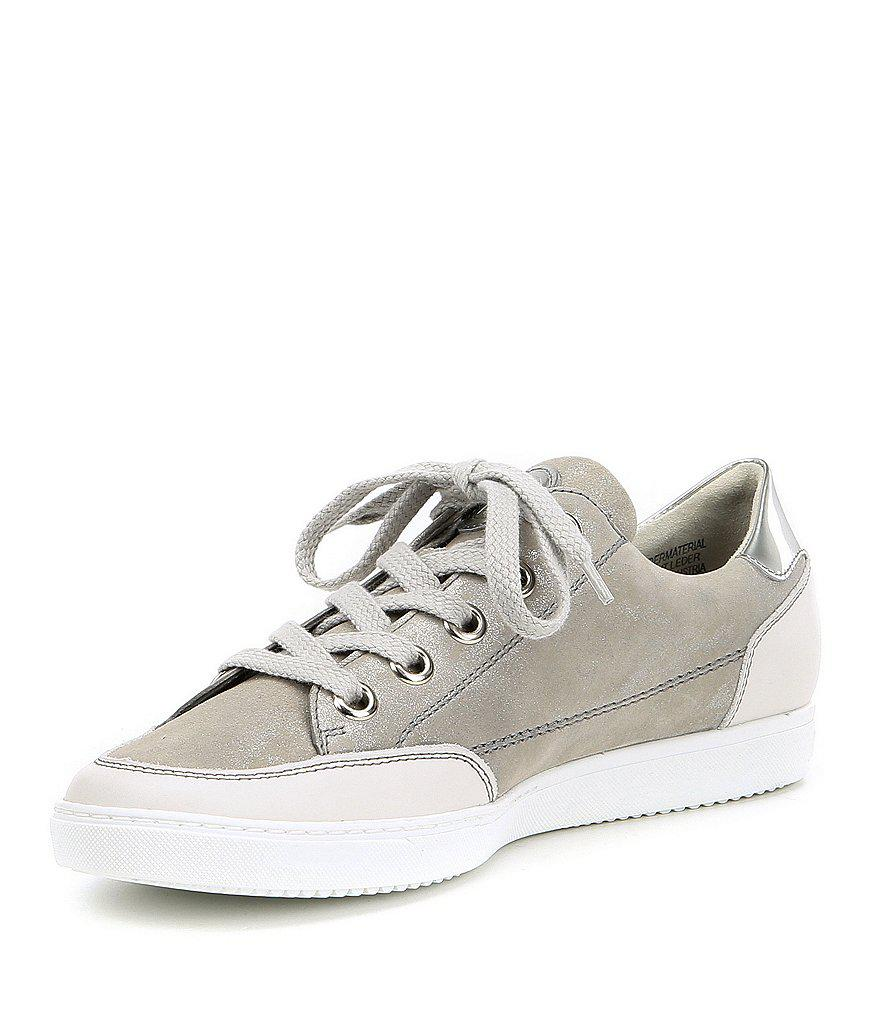 Paul Green Nuevo Leather and Glitter Sport Sneakers oOy3GS7