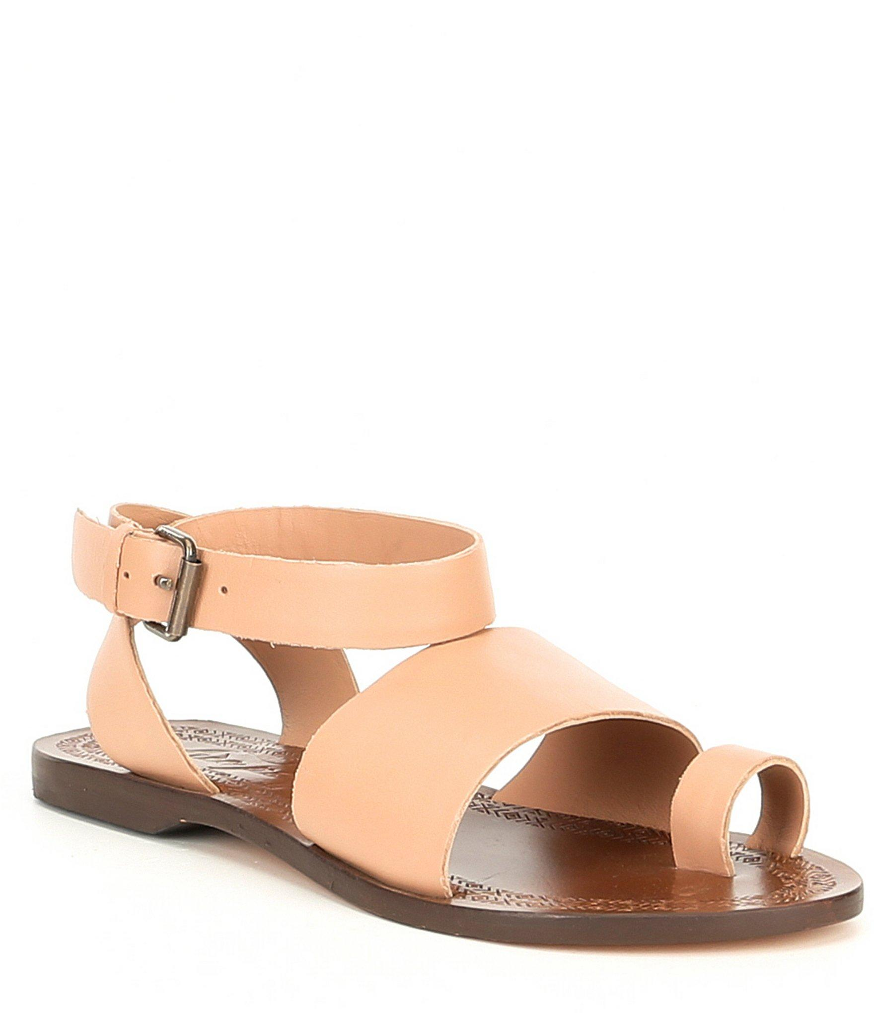 d112dea84c7792 Lyst - Free People Torrence Toe Ring Leather Sandals in Pink