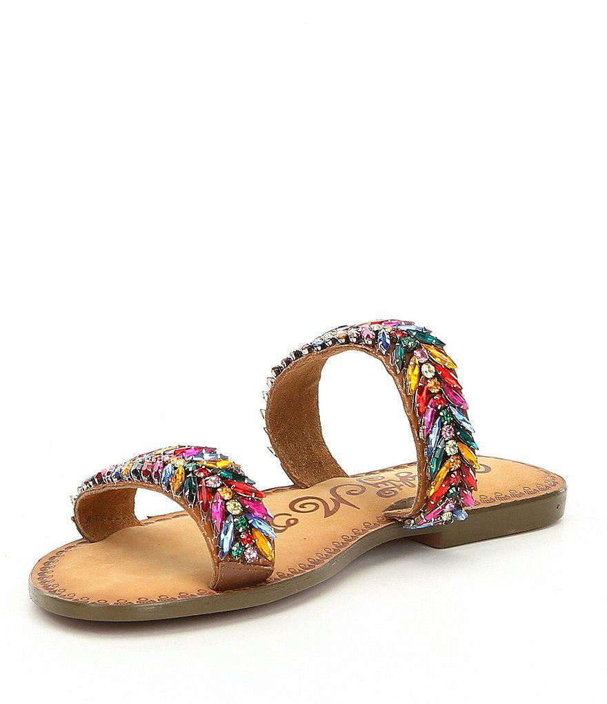 89af24d105a49 Lyst - Naughty Monkey Shine Bright Beaded Embellishment Slide ...