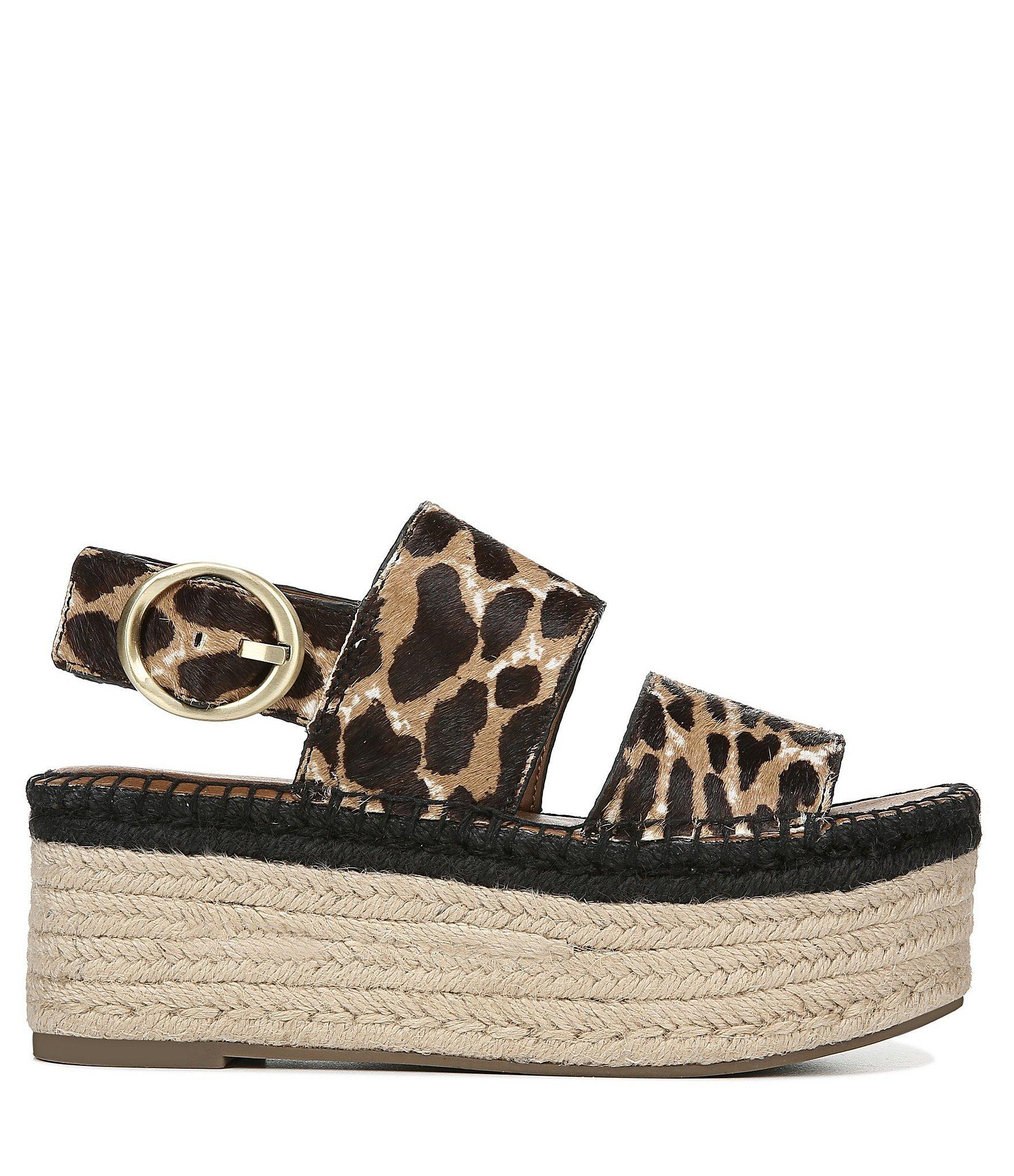 f733370b19 Franco Sarto - Brown Sarto By Mariana Leopard Print Calf Hair Espadrille  Flatform Sandals - Lyst. View fullscreen