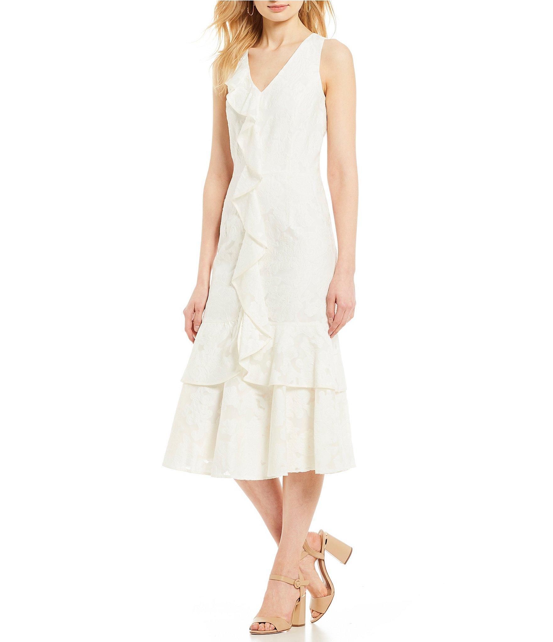 6e64fa0a1b Antonio Melani - White Sami Tiered Ruffle Midi Dress - Lyst. View fullscreen