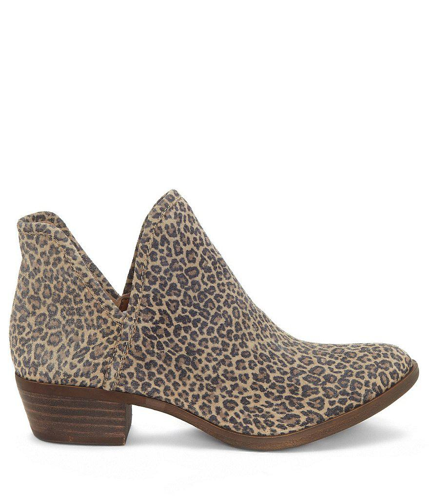 a0b5b61f0f7e Lucky Brand Bashina2 Leopard Print Booties in Brown - Lyst