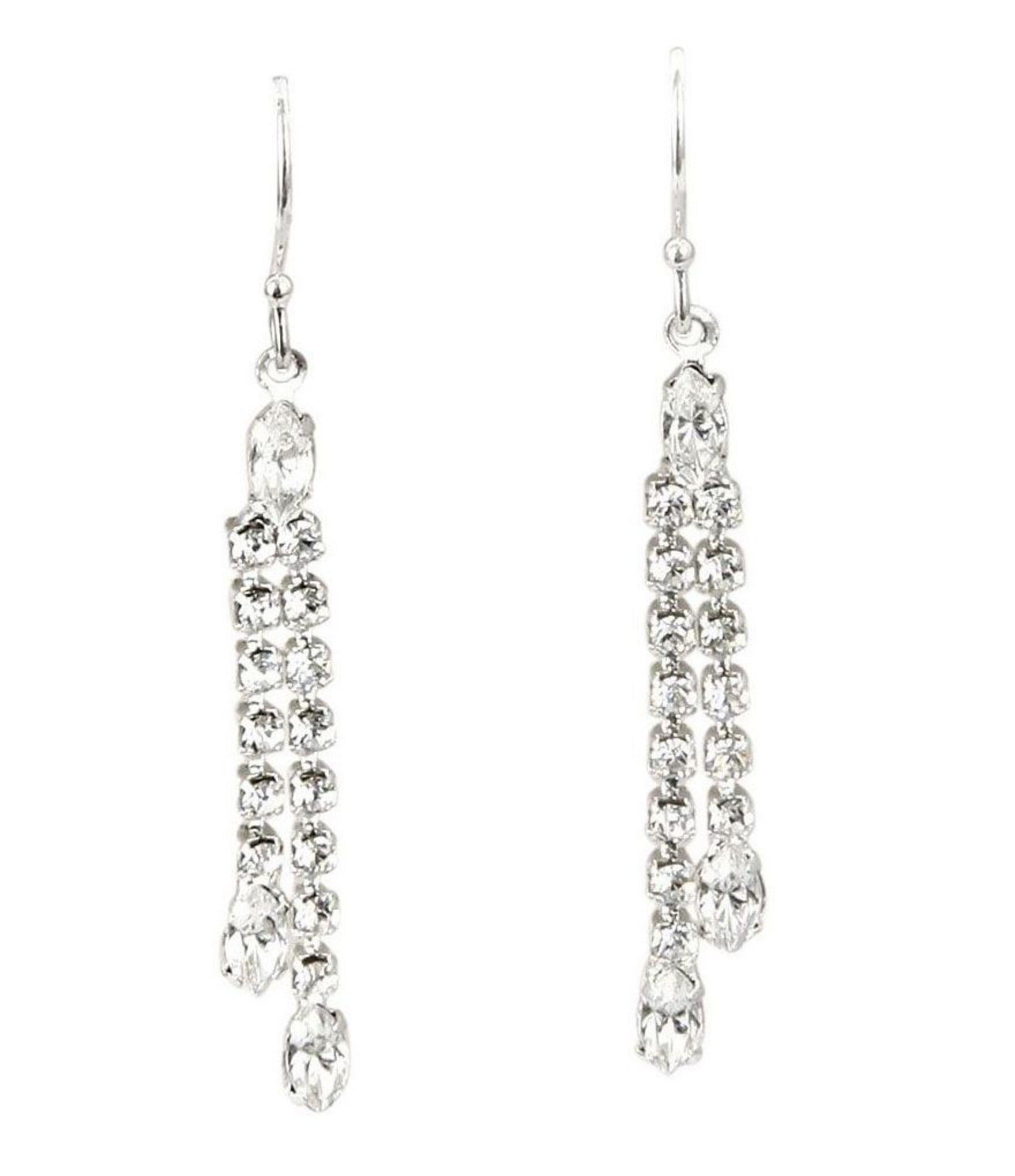 df7fac9cf Cezanne - Metallic Crystal Drop Earrings - Lyst. View fullscreen