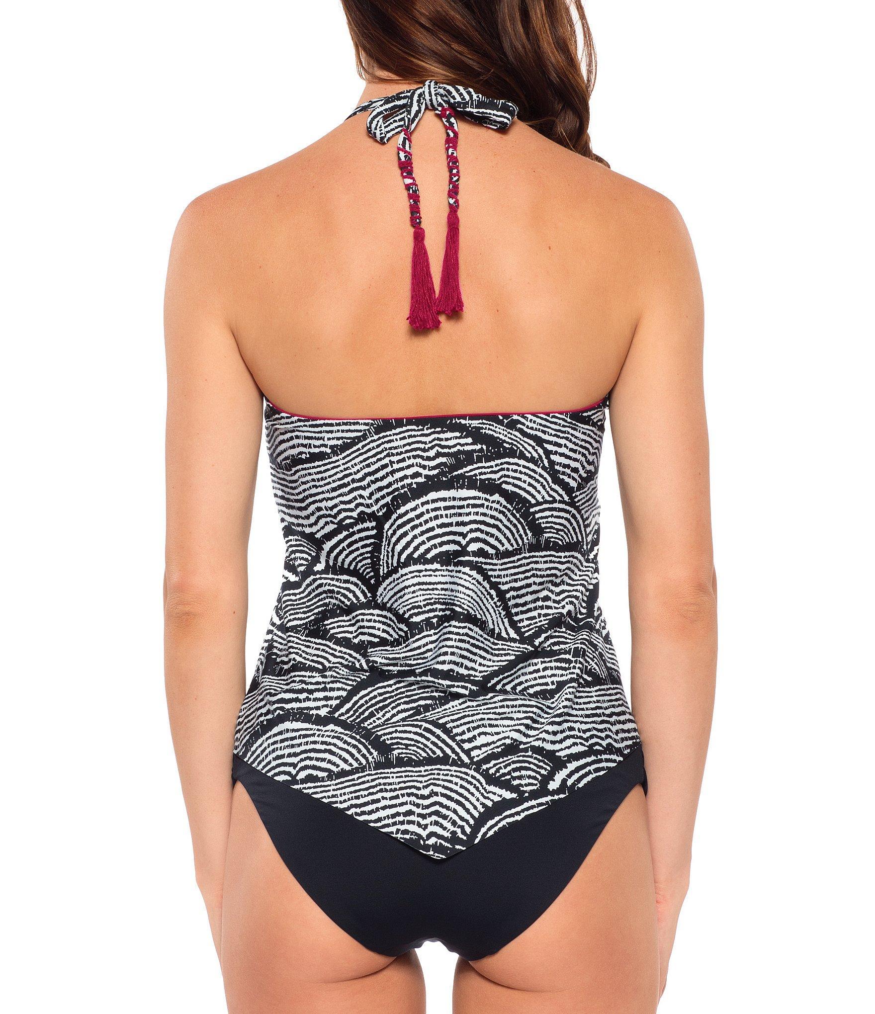 d42c557bf717d Becca - Multicolor Bodhi Tree Hanky Hem Tankini Swimsuit Top - Lyst. View  fullscreen