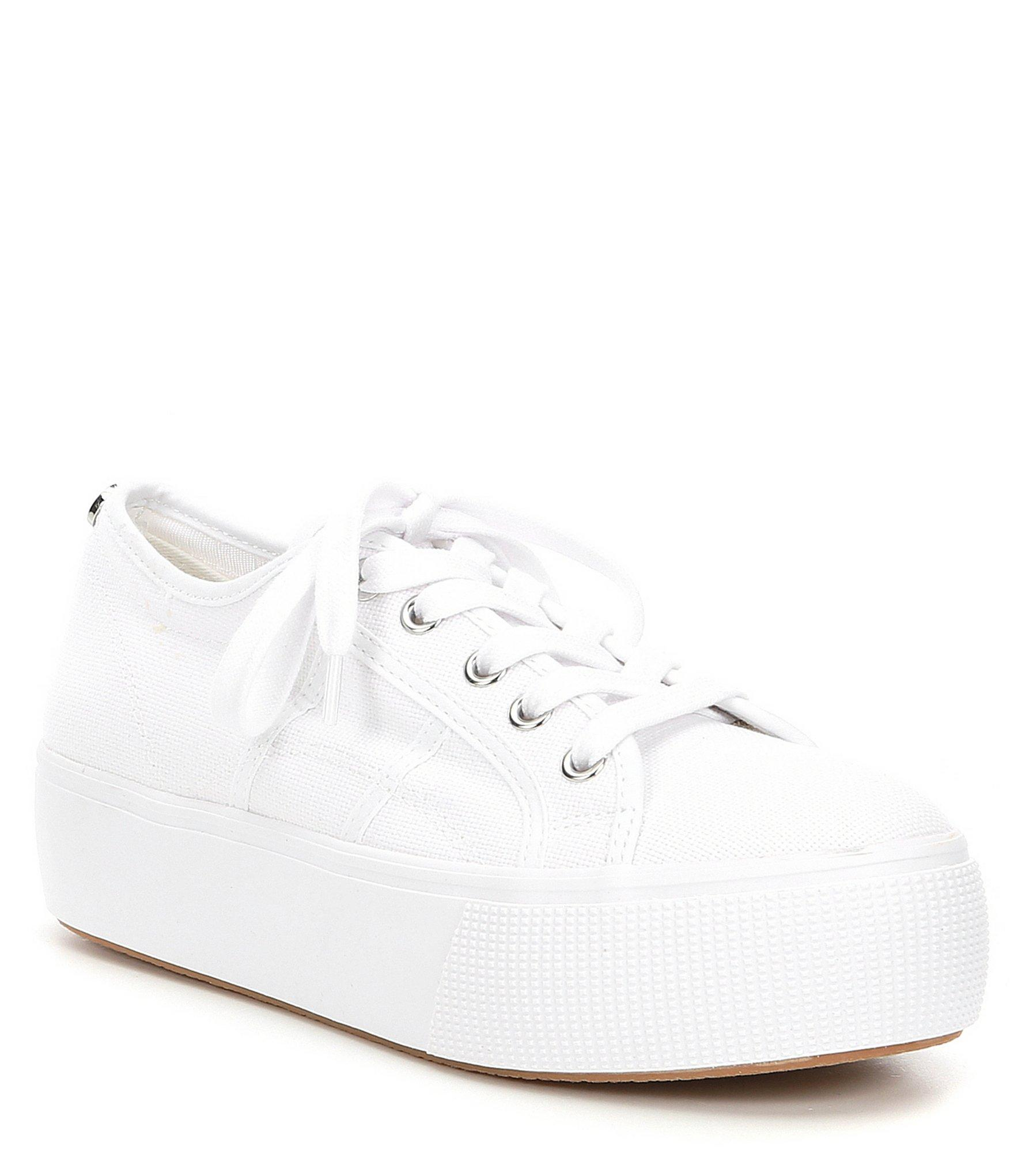 61f5d9347562 Lyst - Steve Madden Emmi Canvas Platform Sneakers in White