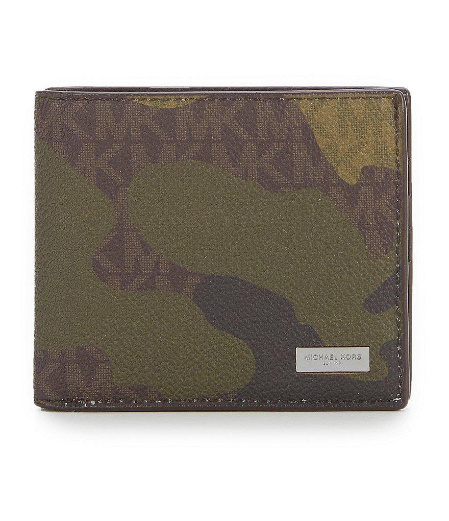 5ed003a7652f Lyst - Michael Kors Jet Set Camo Logo Billfold Wallet for Men