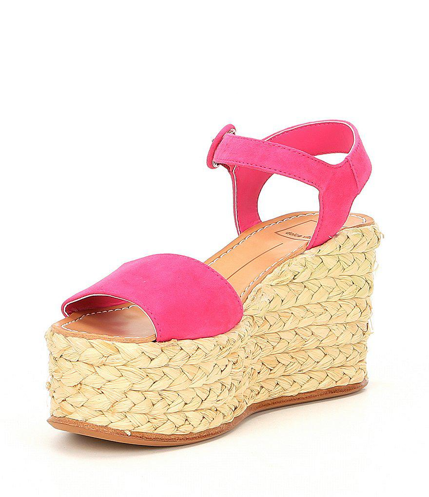 Dane Suede Platform Wedge Espadrille Sandals