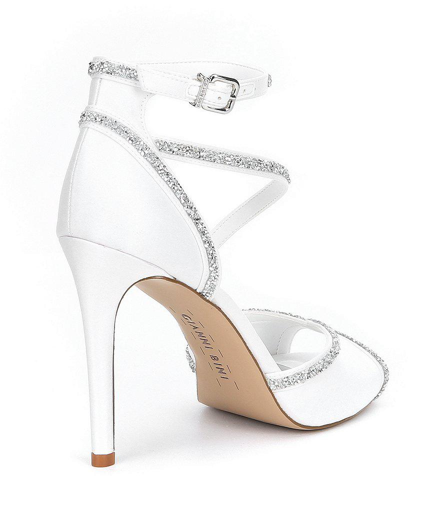 Rosalynd Satin Hot Rock Detail Ankle Strap Dress Sandals TpXsujB9W
