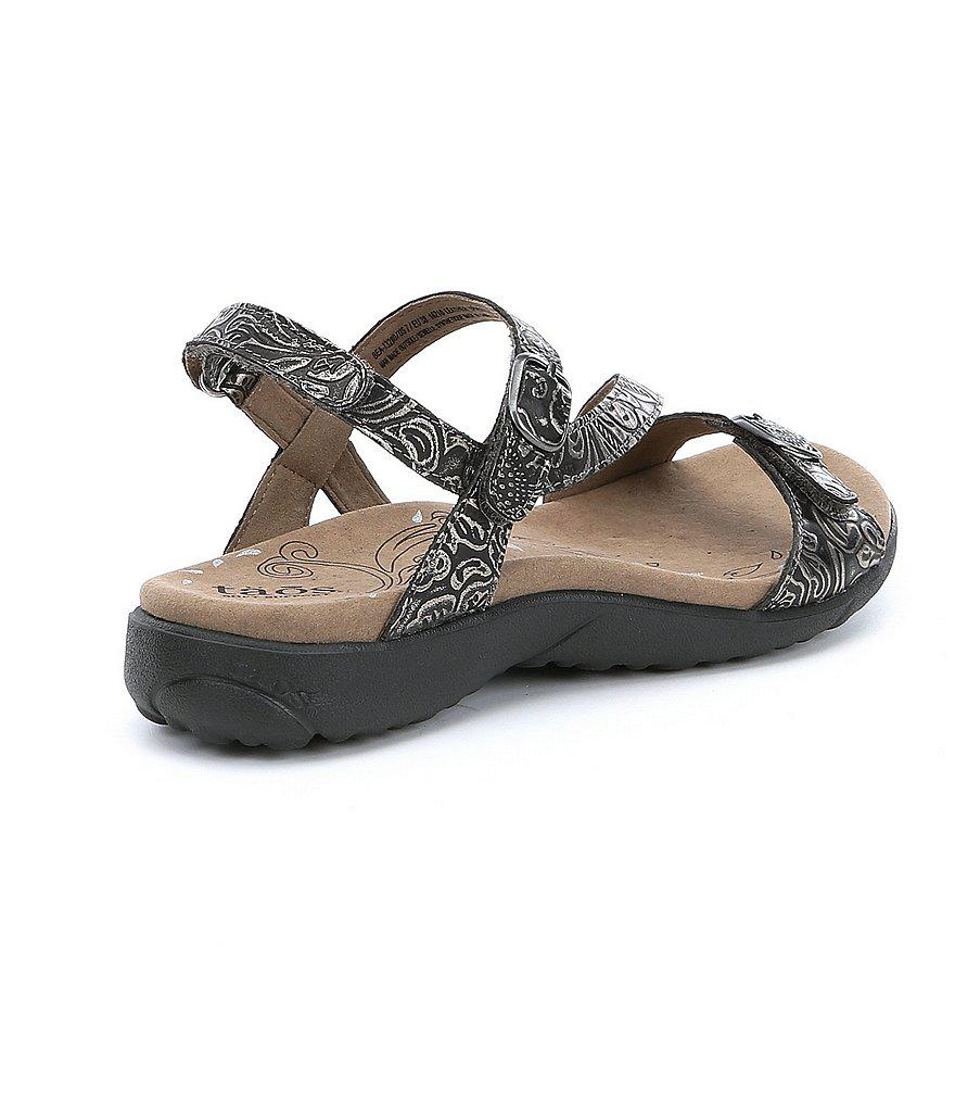Beauty Embossed Leather Sandals RyjLD