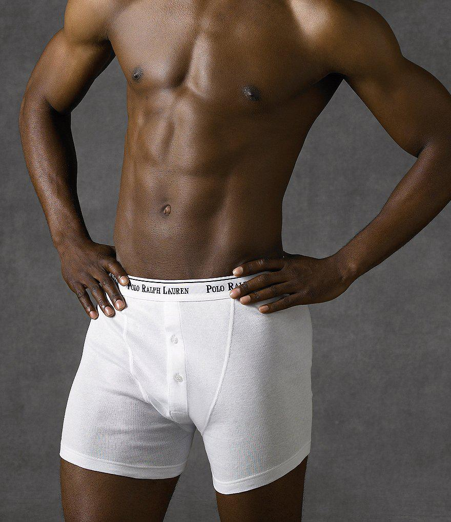 bf6cd08e393 Polo Ralph Lauren Classic-fit Cotton Button-fly Boxer Briefs 3-pack ...