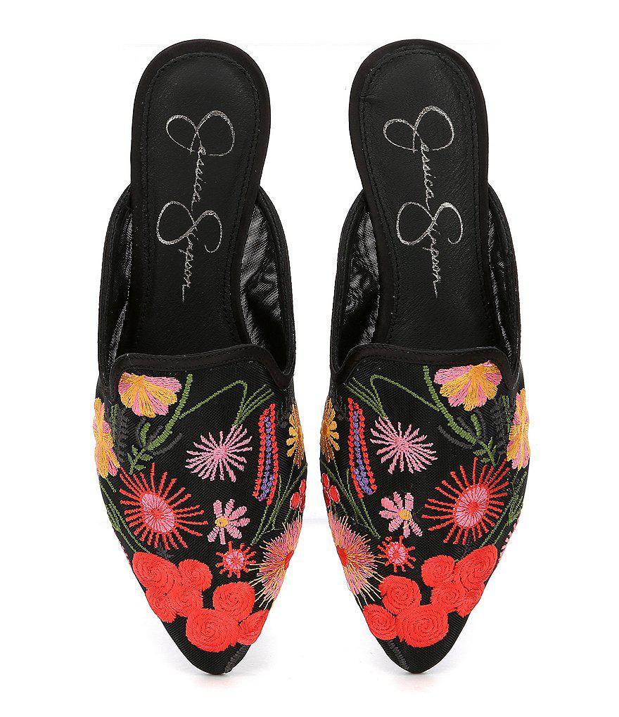 Zander Floral Embroidered Mules 7HgsR