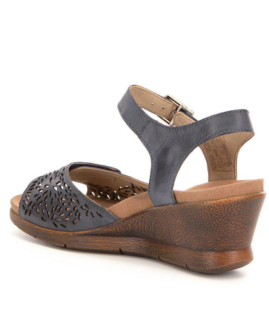 Romika Nevis 05 Cutout Banded Leather Sandals bLsVksM