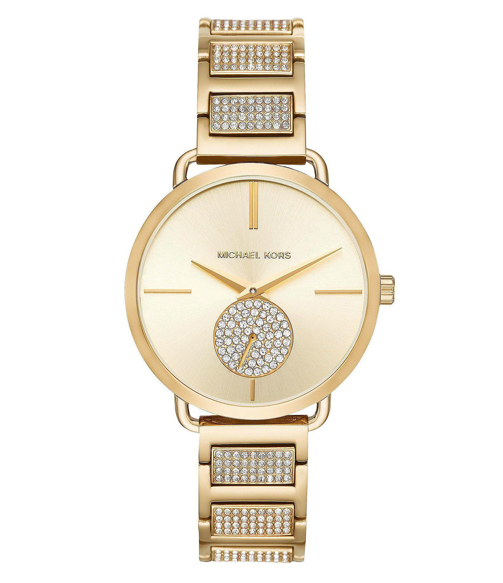 9942a76ff020 Michael Kors - Metallic Ladies  Portia Gold-tone And Pav Watch - Lyst. View  fullscreen