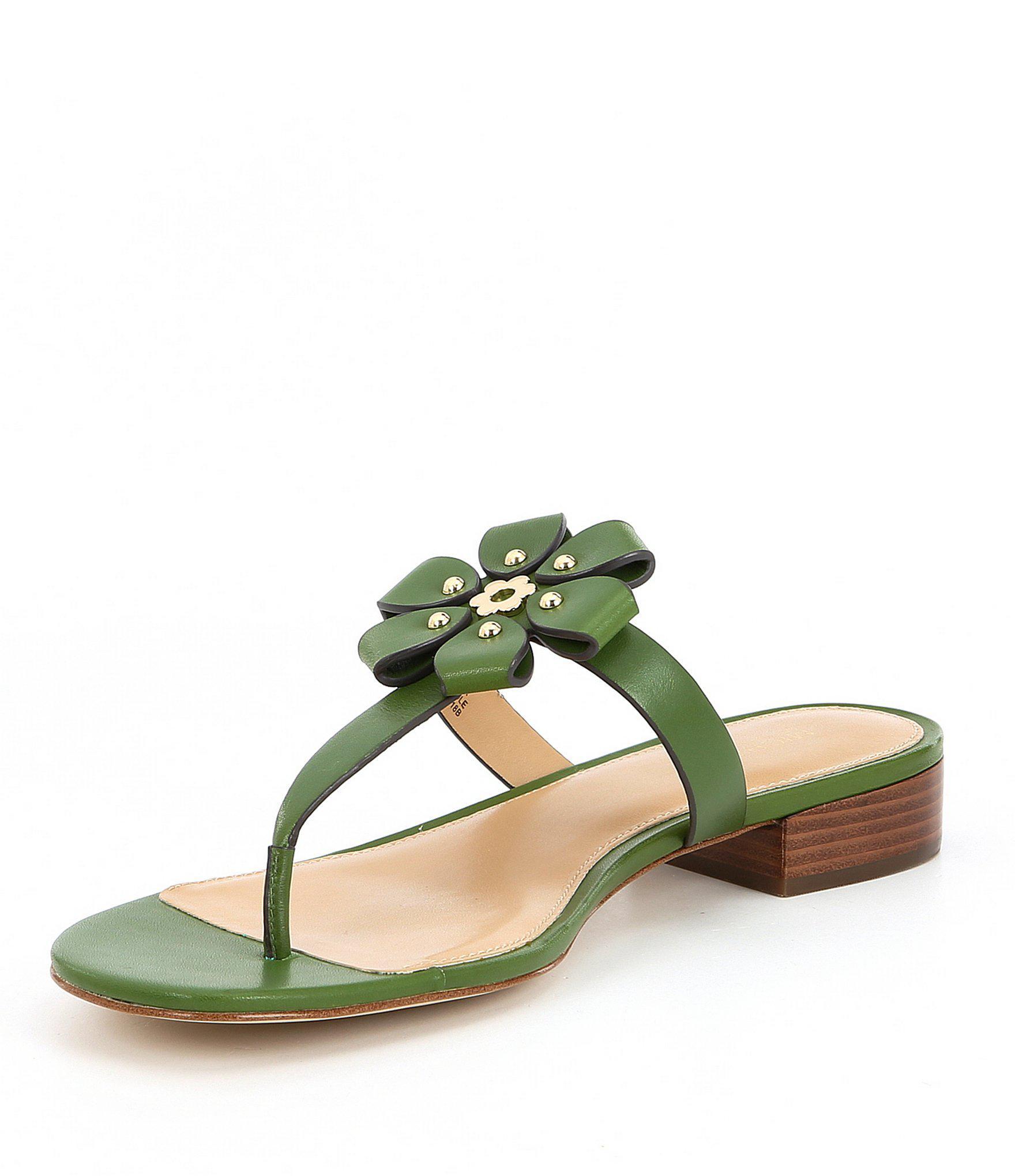 53fdc578ea7 Lyst - MICHAEL Michael Kors Tara Floral Applique Thong Sandals