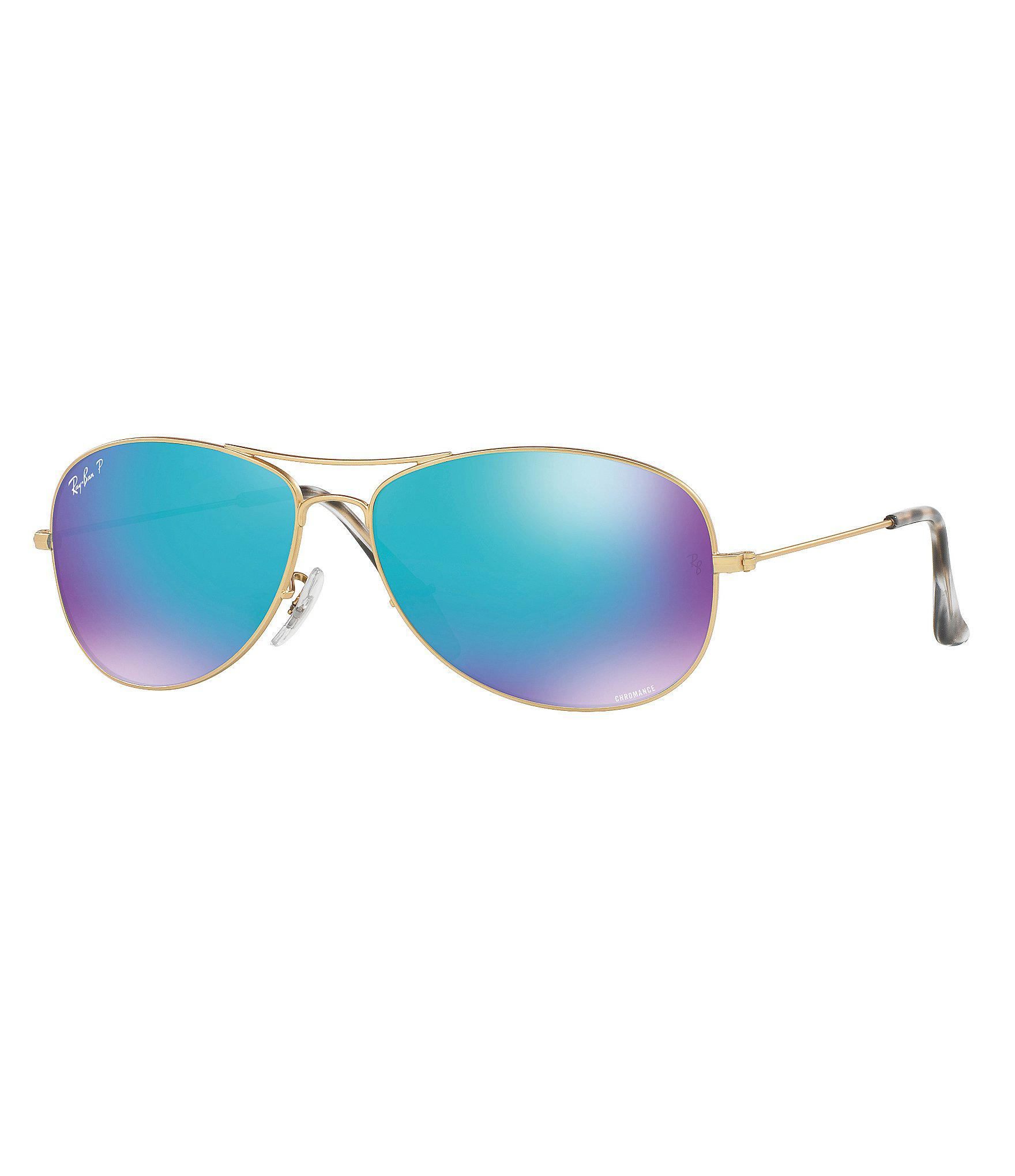 f01790fee9a Lyst - Ray-Ban Chromance Polarized Mirrored Aviator Sunglasses in ...