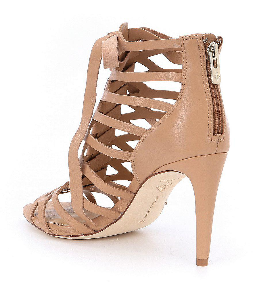 Merraline Caged Lace-Up Dress Sandals xKj4YgdhBz