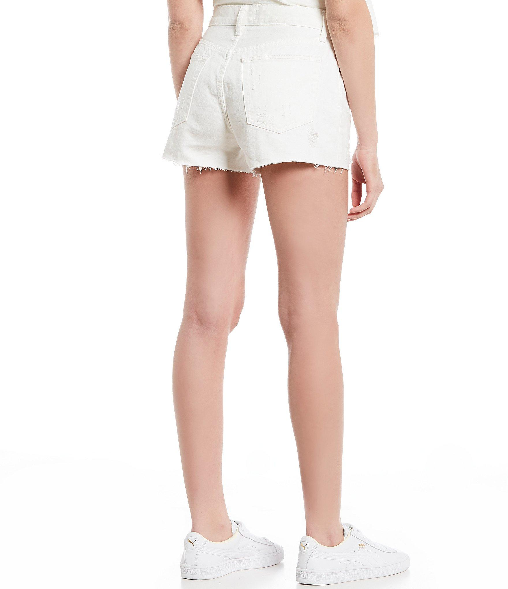 f164f09554 Free People - White Sofia Distressed Denim Shorts - Lyst. View fullscreen