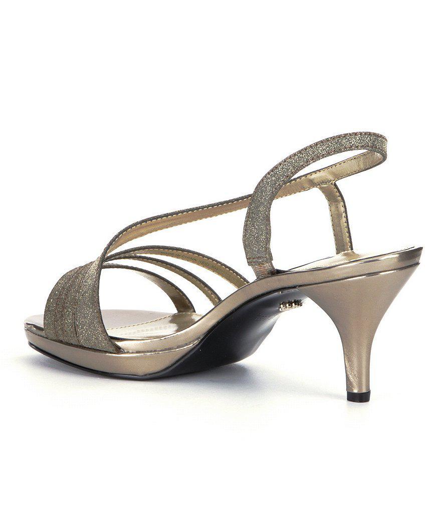 Nina Neely Glitter Fabric Slip-On Dress Sandals oL5U7