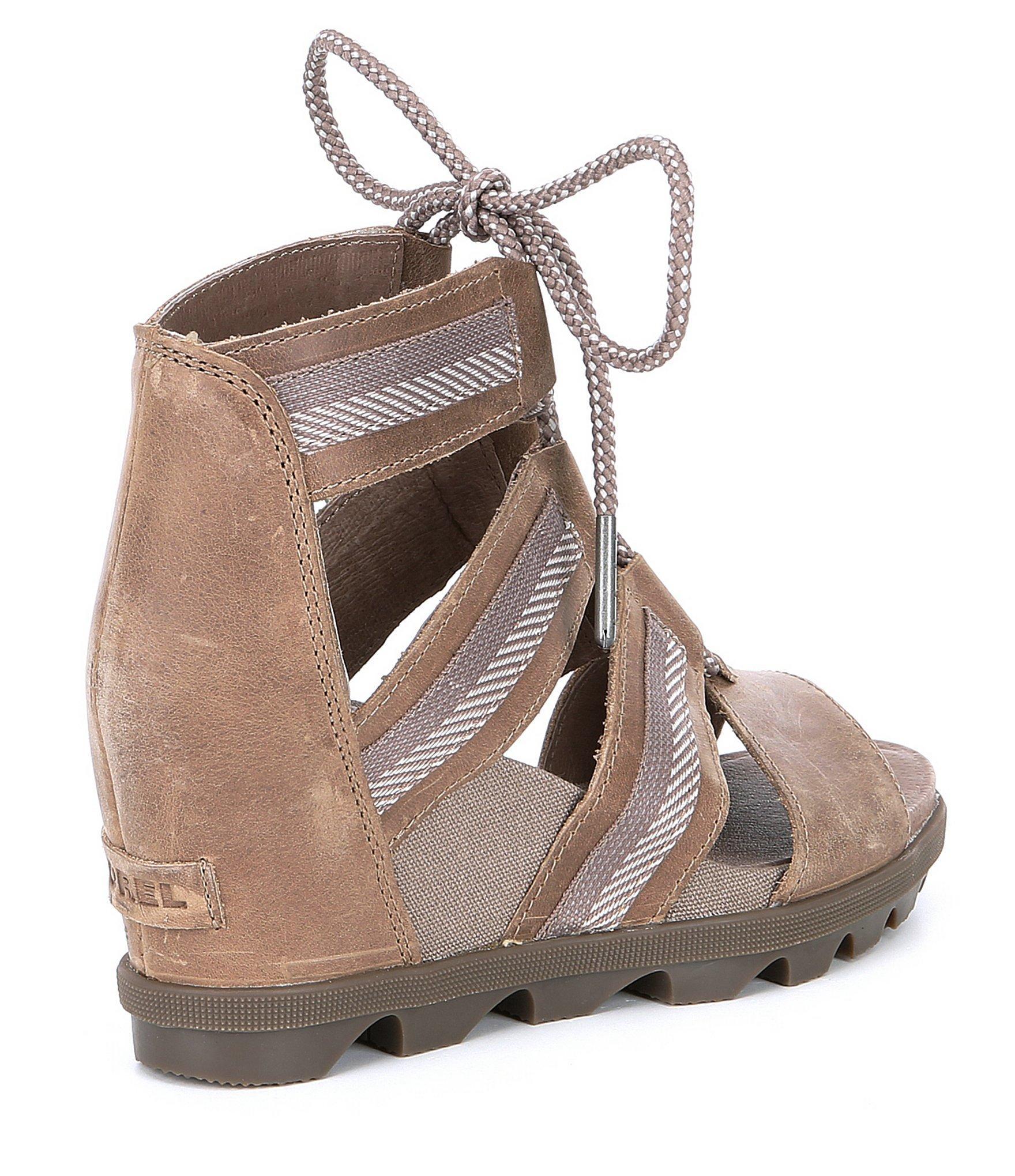 f28e86708 Sorel - Brown Joanie Ii Leather Lace Sandals - Lyst. View fullscreen