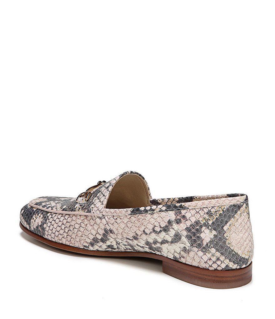 Loraine Snake Print Leather Loafers h86QF