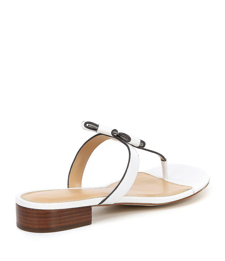 MICHAEL Michael Kors Tara Floral Applique Thong Sandals Hh8YFBCEW