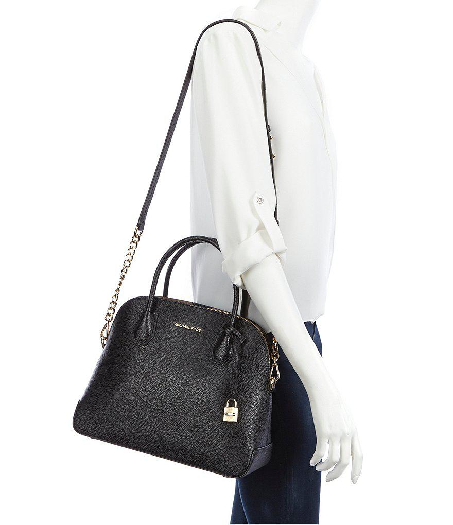 04094fa2b5f7 Lyst - MICHAEL Michael Kors Studio Mercer Dome Satchel in Black