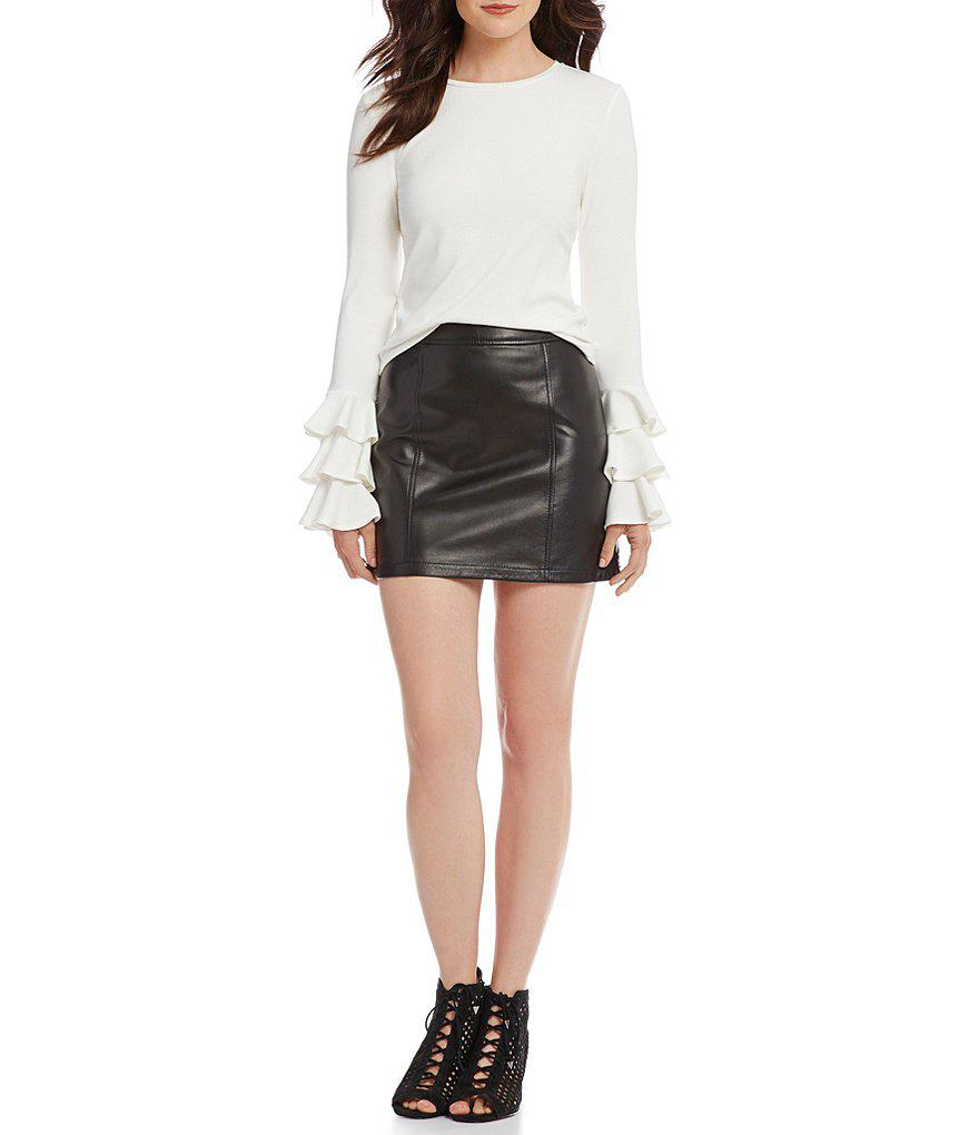 8c61bfcd4cc3 Gallery. Previously sold at: Dillard's · Women's Leather Skirts Women's  Black Leather Skirts Women's Leather Mini Skirts