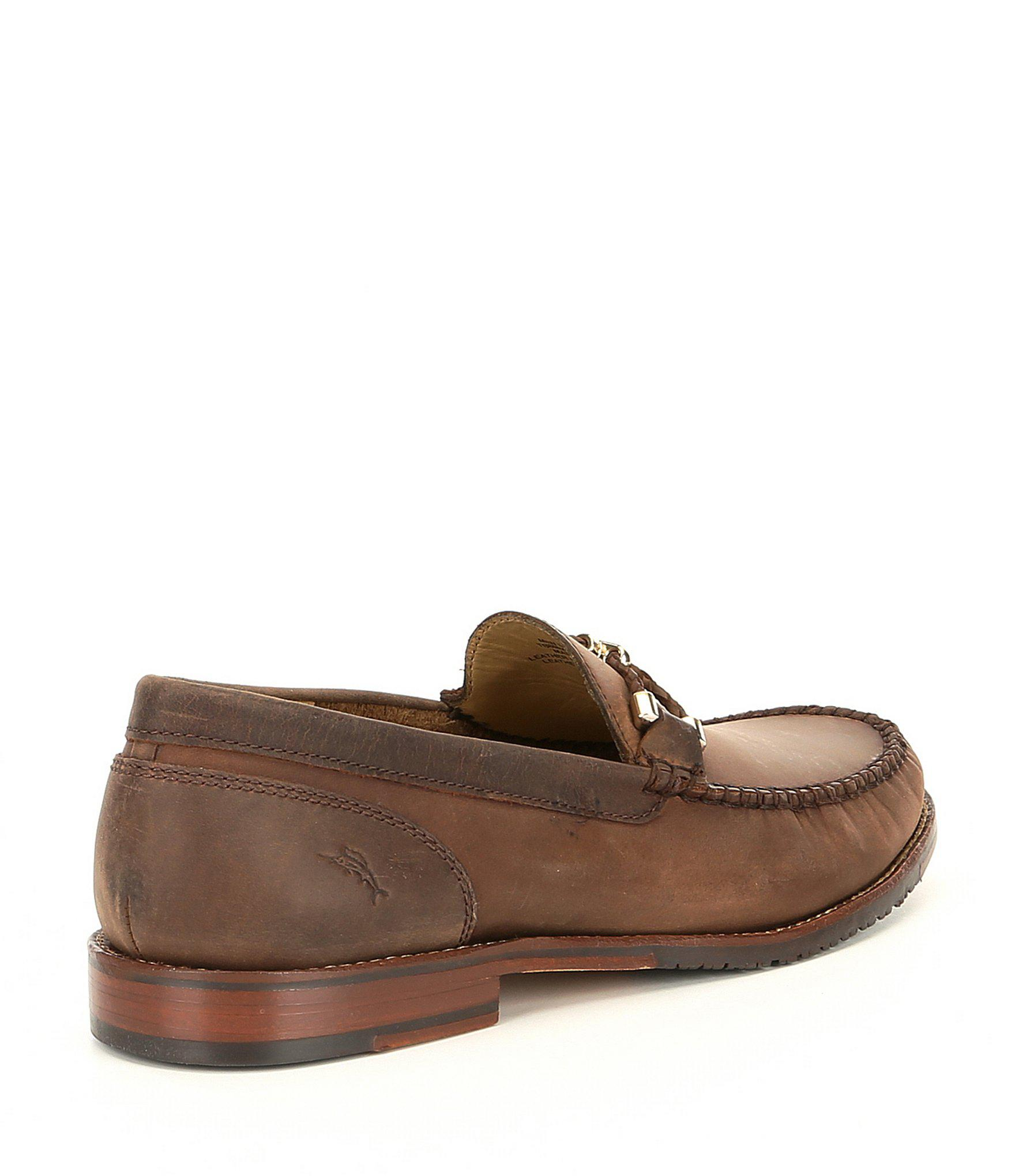 a106e571ce9 Tommy Bahama - Brown Men s Papio Leather Loafers for Men - Lyst. View  fullscreen