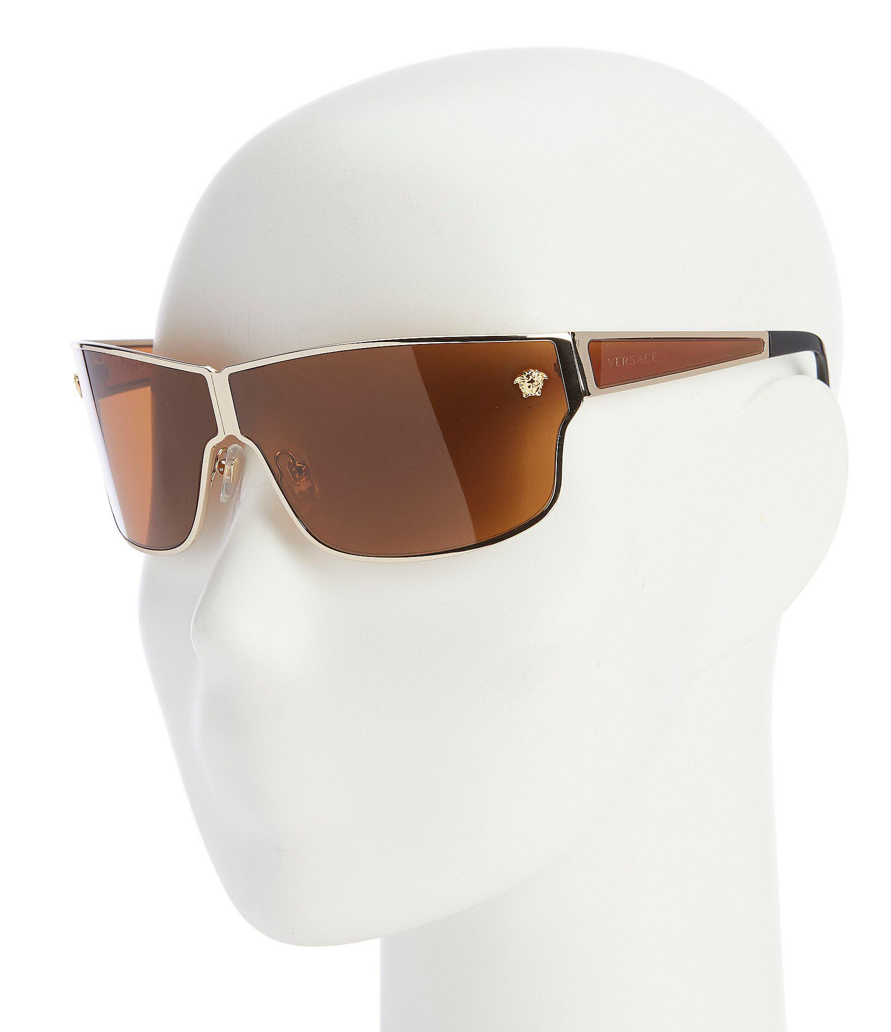 55677fc98d5 Lyst - Versace Men s Medusa Aspis Sunglasses in Metallic for Men