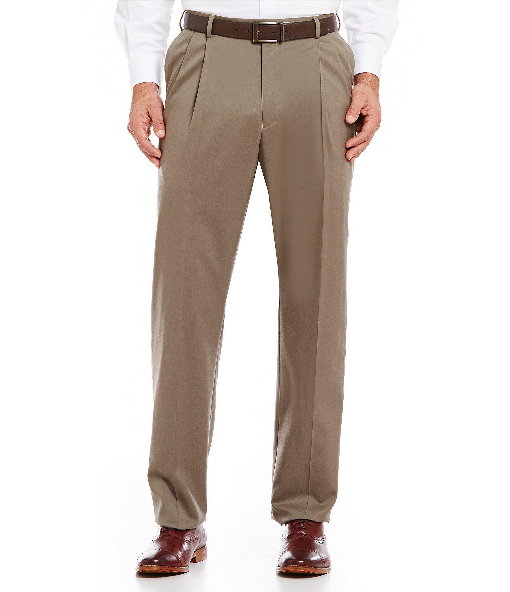 Men/'s Big and Tall BLACK Dress Pants John Bartlett PLEATED SLACKS