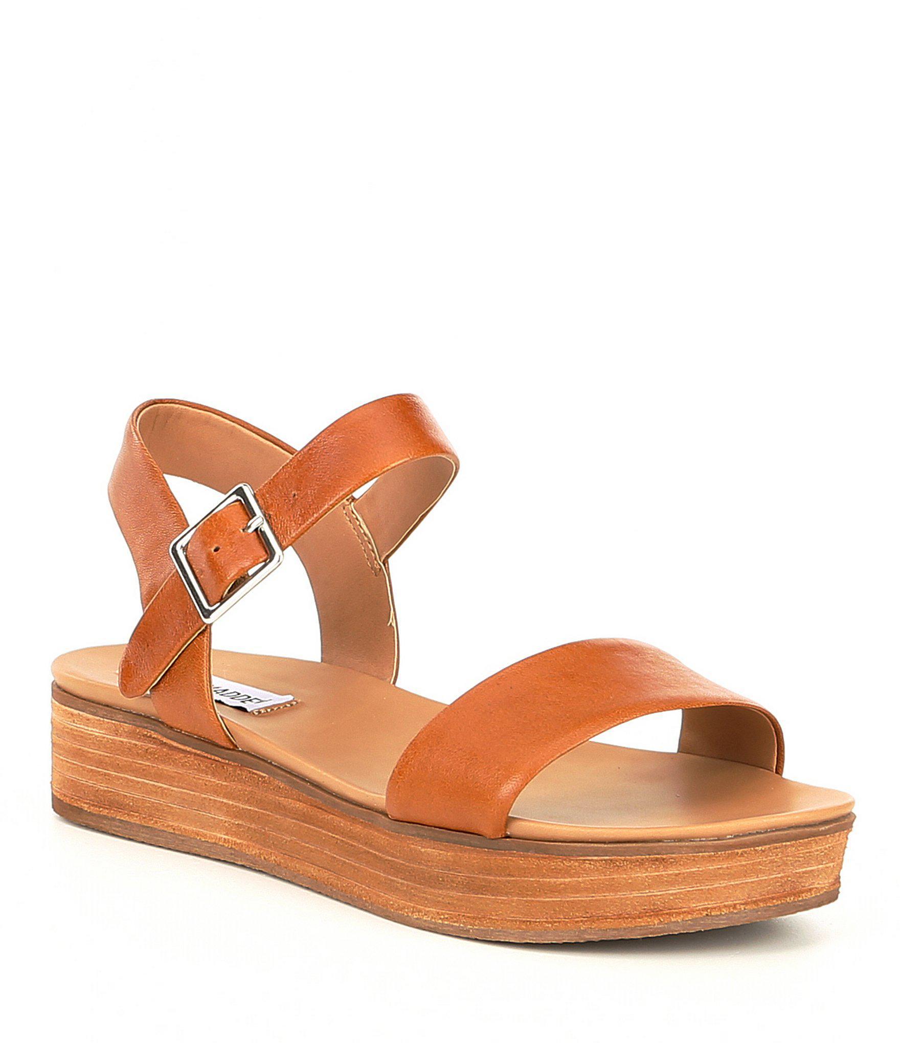 04216dc83544 Lyst - Steve Madden Aida Platform Sandals in Brown