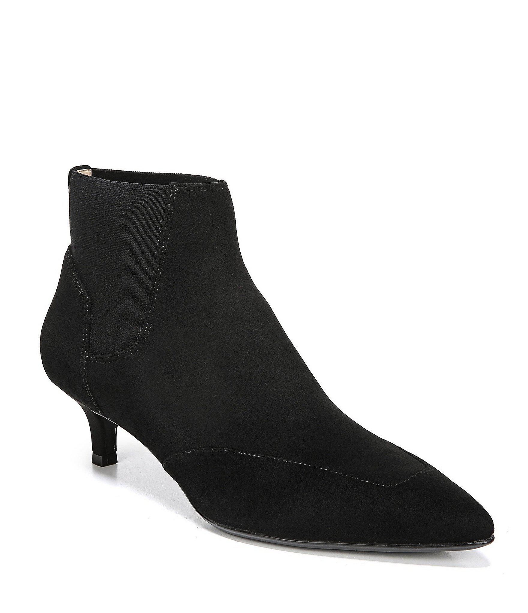 ba6a870baef Lyst Naturalizer Piper Suede Dress Booties In Black. Nine Seven Suede Womens  Flat Heel Round Toe Ankle ...