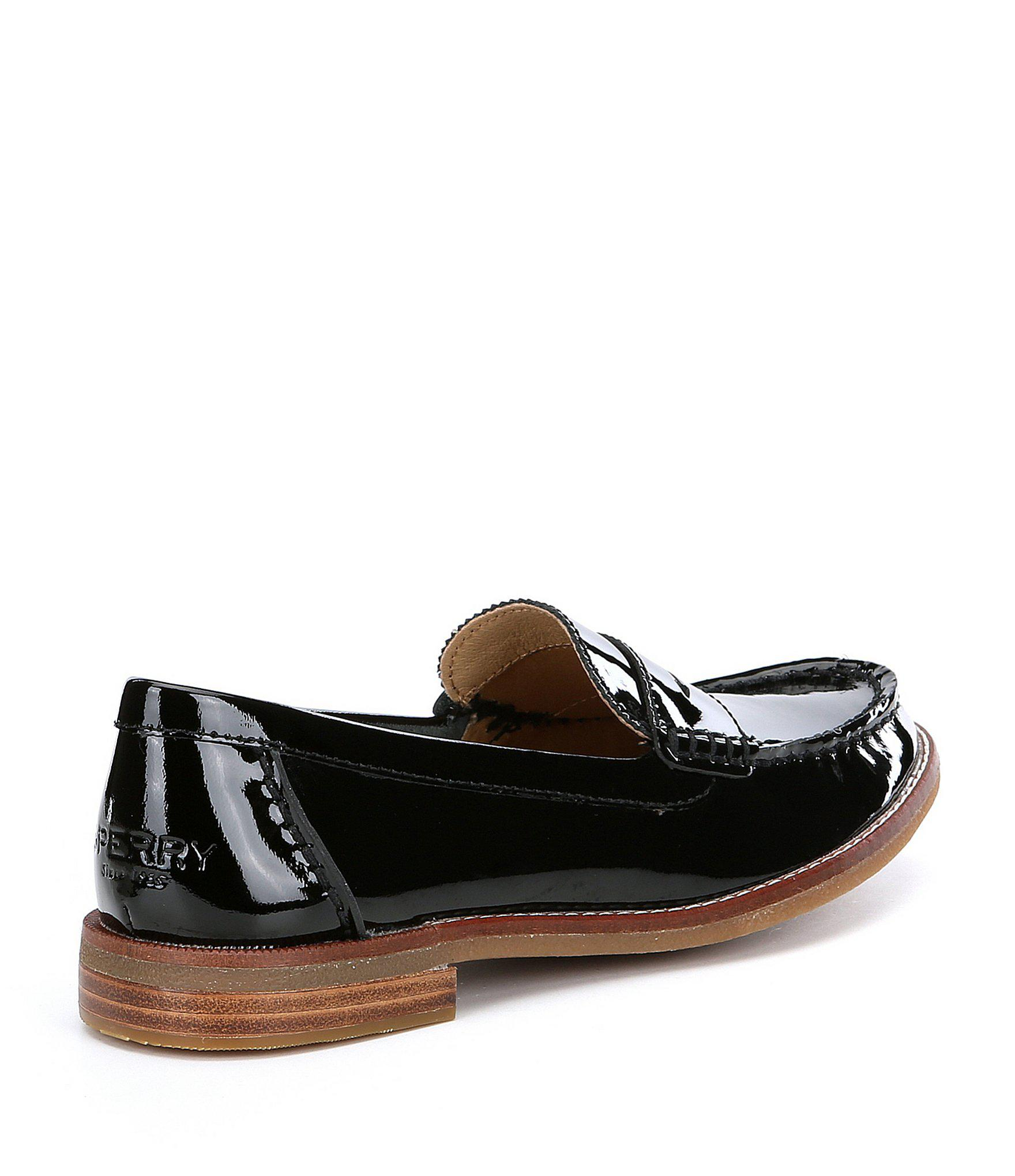 46355c2dd02 Lyst - Sperry Top-Sider Women s Seaport Penny Patent Leather Loafers ...