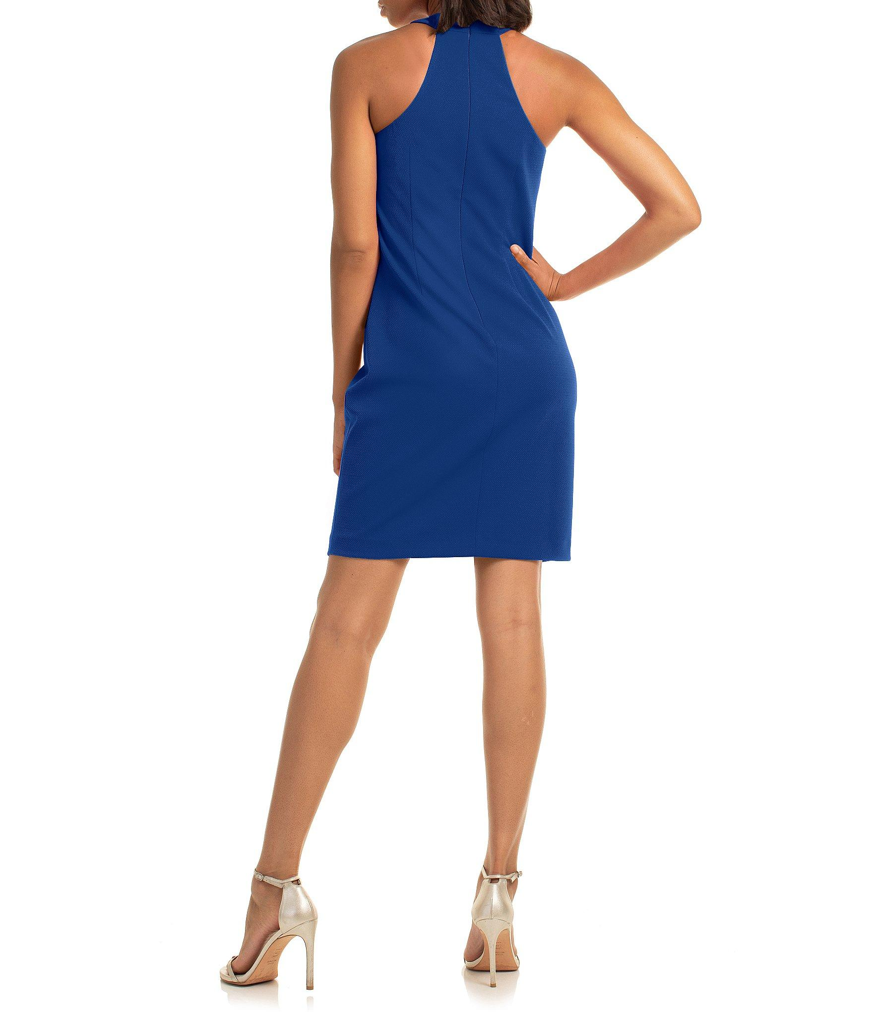 d6de884f Trina Turk - Blue Trina Keyhole Halter Neck Sheath Dress - Lyst. View  fullscreen