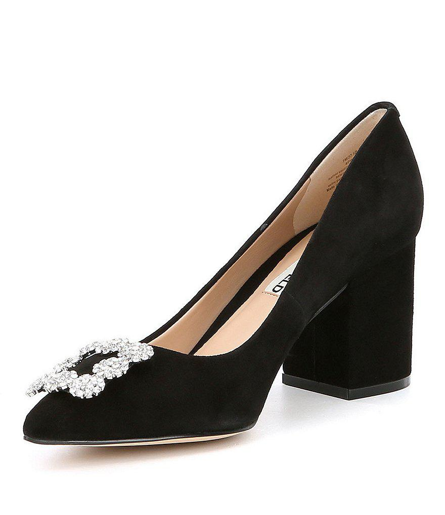 70543c02bb46 Lyst - Karl Lagerfeld Adona Velvet Pumps in Black
