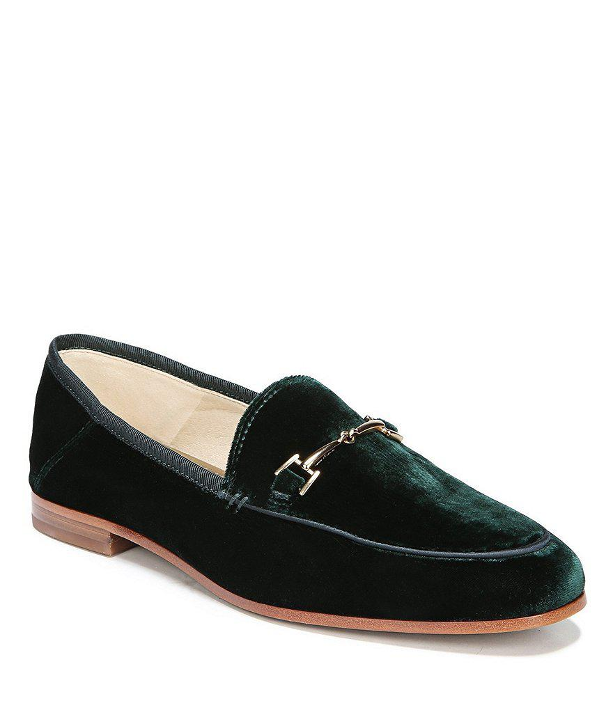 81ec63433f6f6 Lyst - Sam Edelman Loraine Velvet Loafers in Green