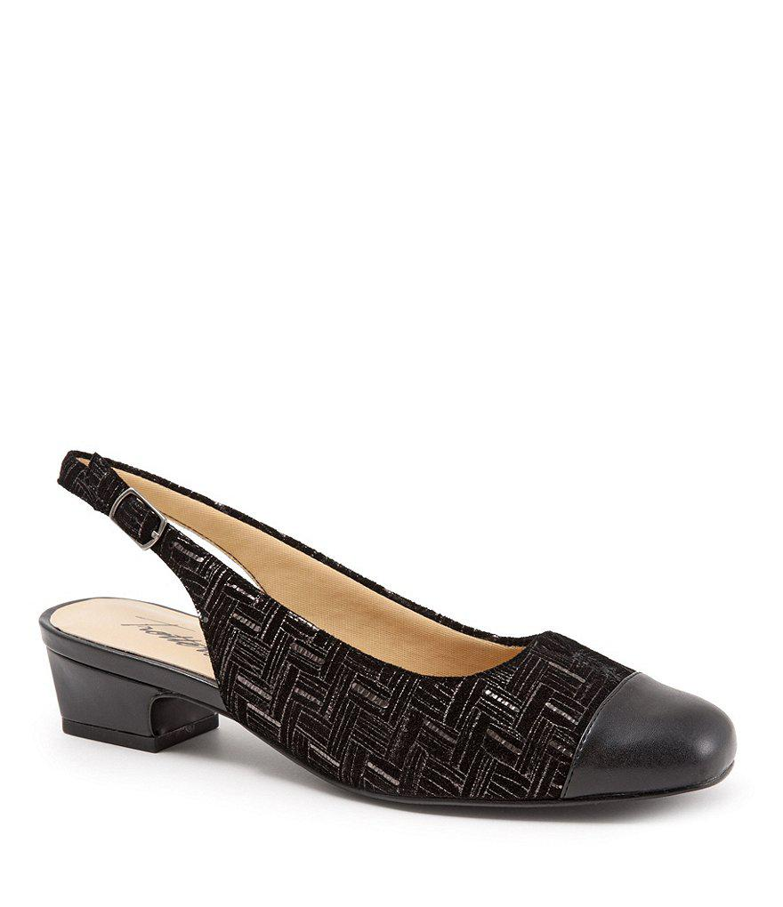Dea Metallic Croco Print Slingback Pumps