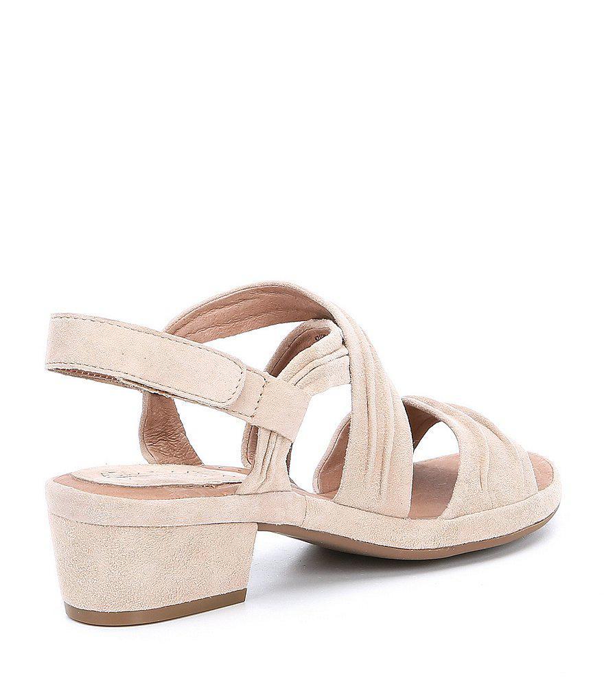 Yvette Suede Block Heel Sandals MnoINLaH