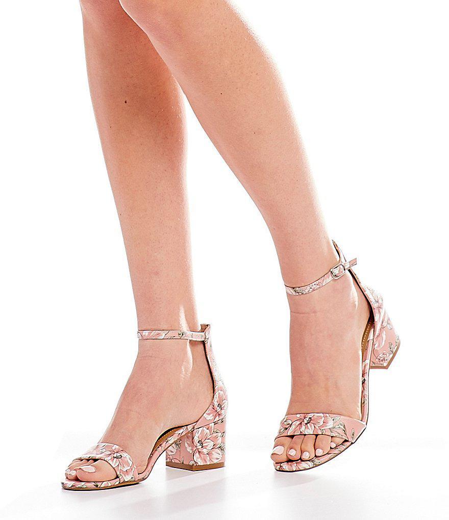 Irenee Floral Block Heel Dress Sandals NbSGR